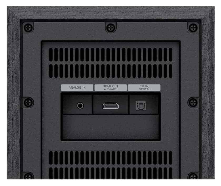 Conexiones HT-S40R - Gama de barras de sonido Sony 2021