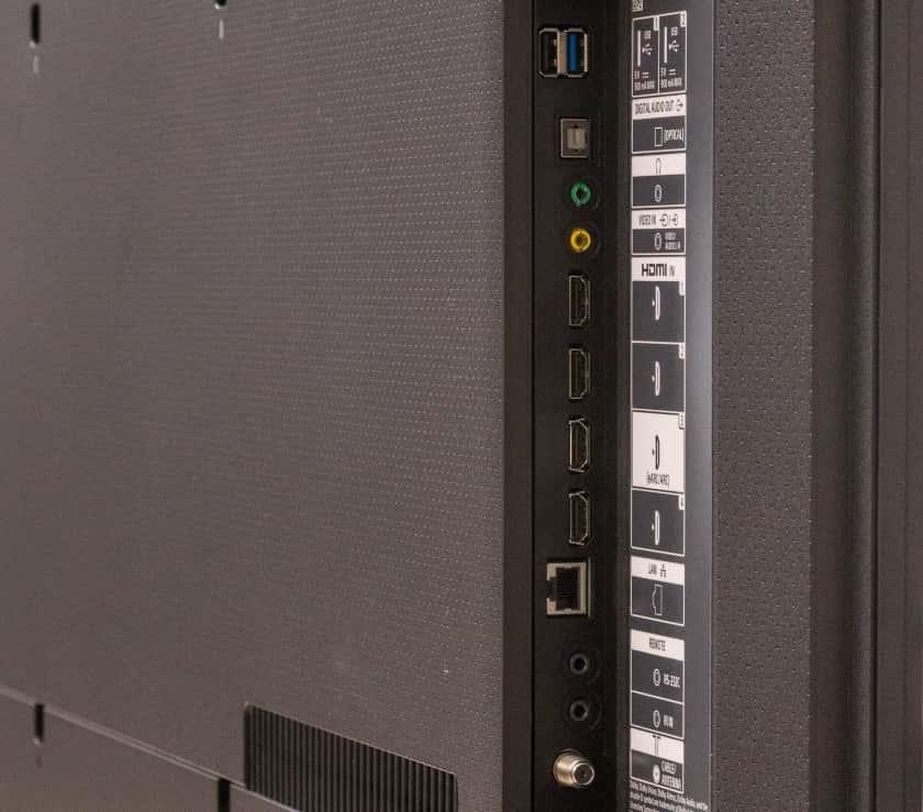 Conexiones del Sony X80J