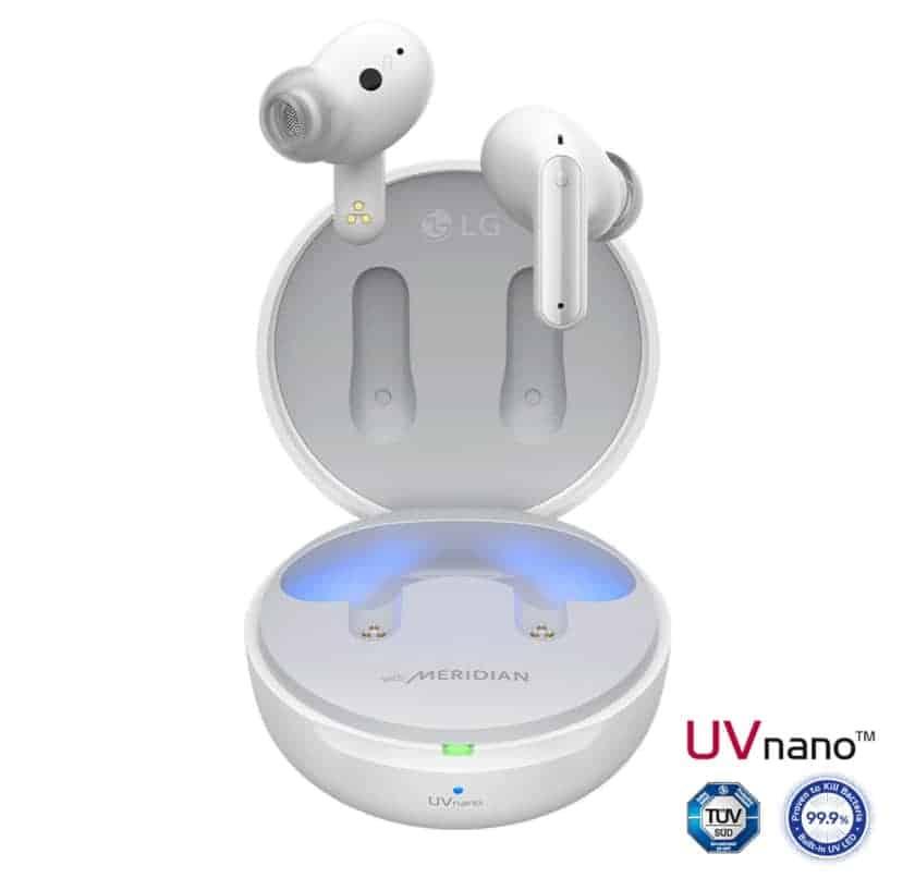 Limpieza luz ultravioleta UV Nano auriculares LG Tone Free