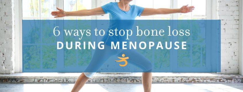 Bone loss during menopause