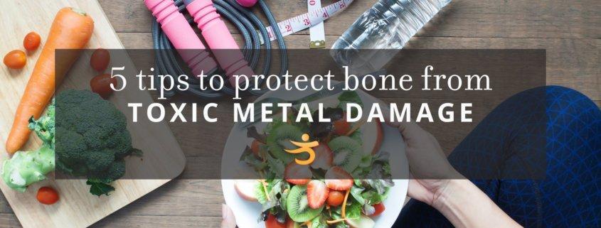 Tips to protect bone to toxic metal damage