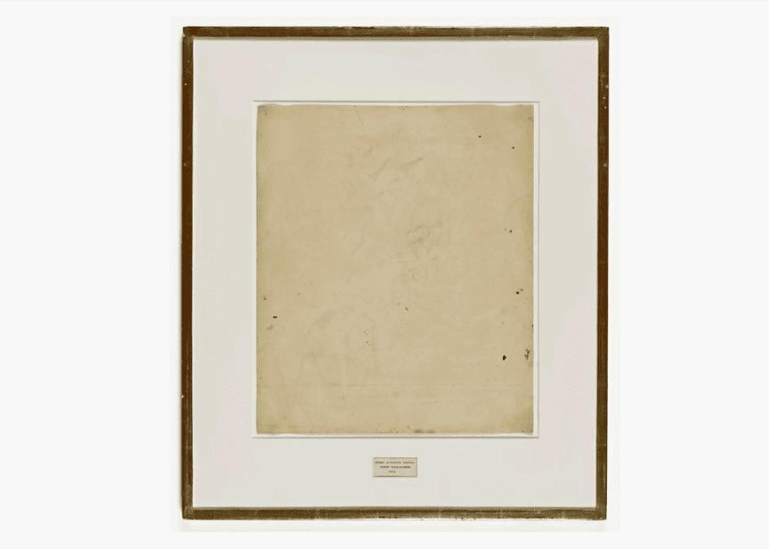 Erased de Kooning Drawing Gallery of Lost Art