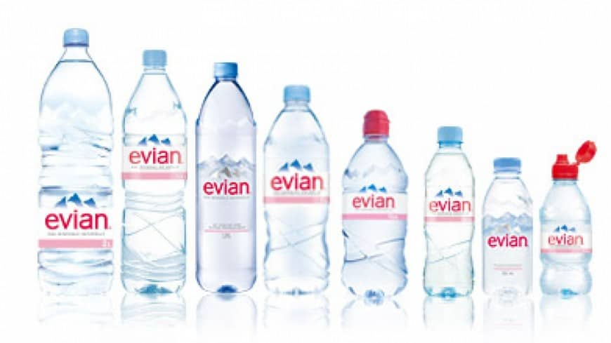 Visual design of Evian products