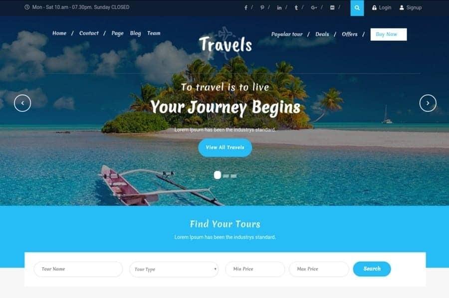 Best Free WordPress Travel Themes