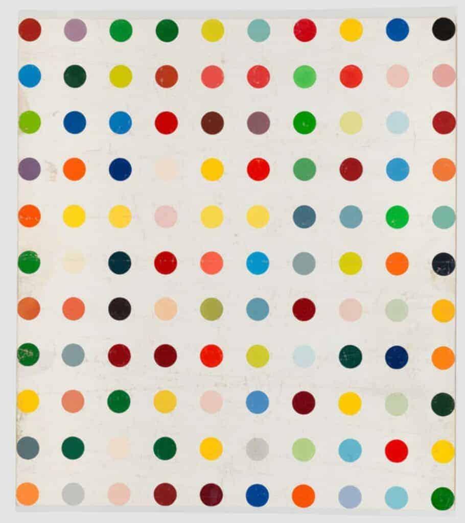 Damien Hirst pattern artist