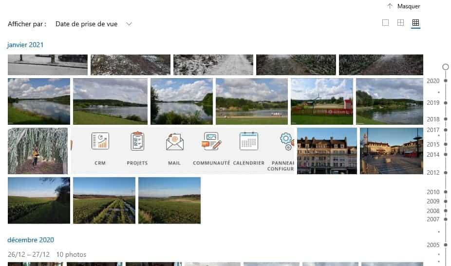 L'onglet Collection de Microsoft Photos