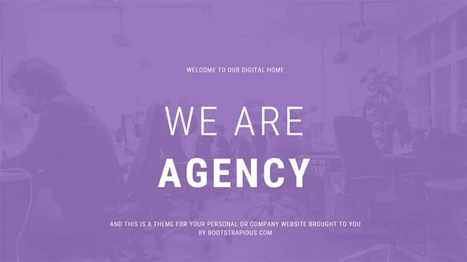 agency template free