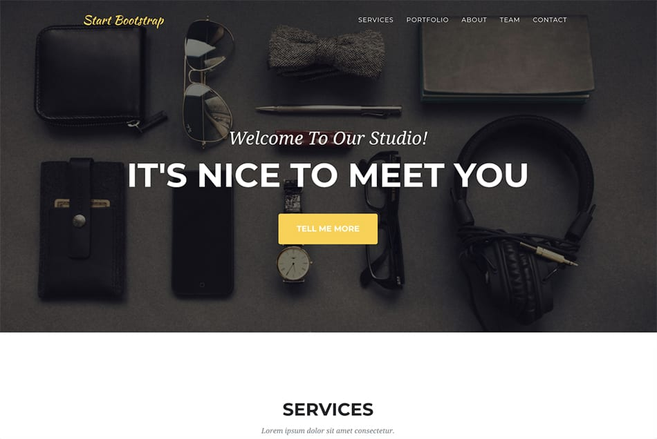 agency free portfolio template