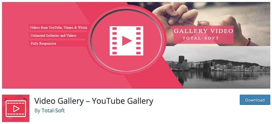 youtube video gallery plugin