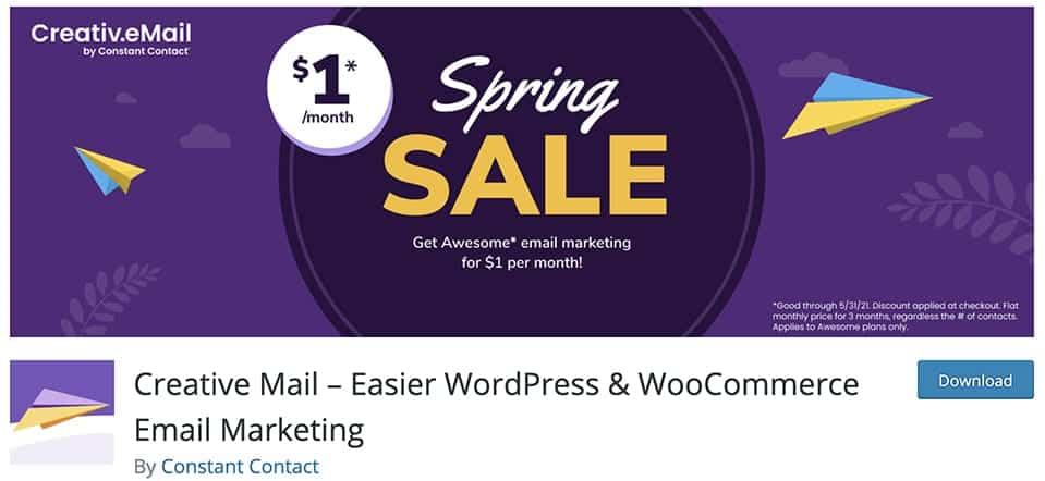Creative Mail – Easier WordPress & WooCommerce Email Marketing