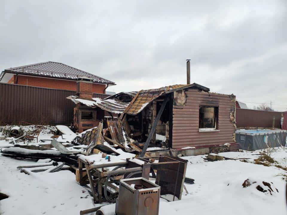 Пожар в Бужаниново. Строителей 6