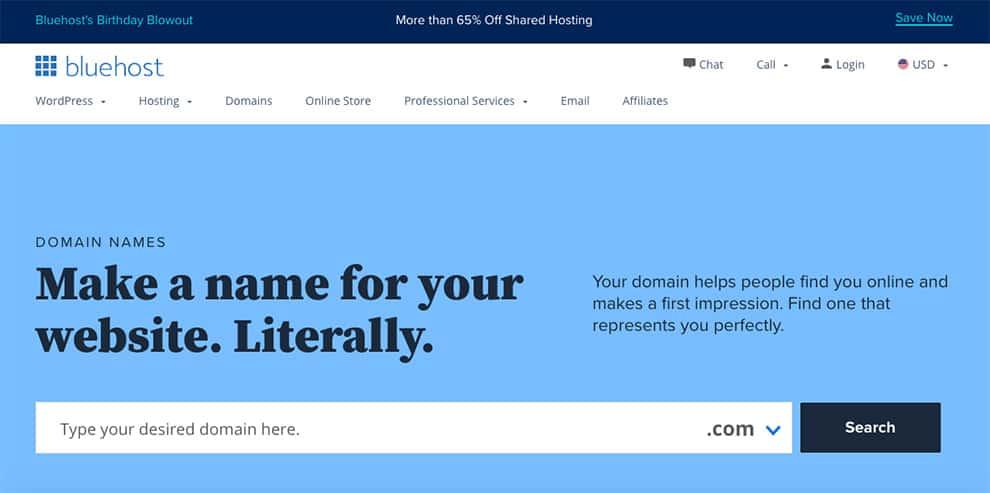 bluehost domain generator