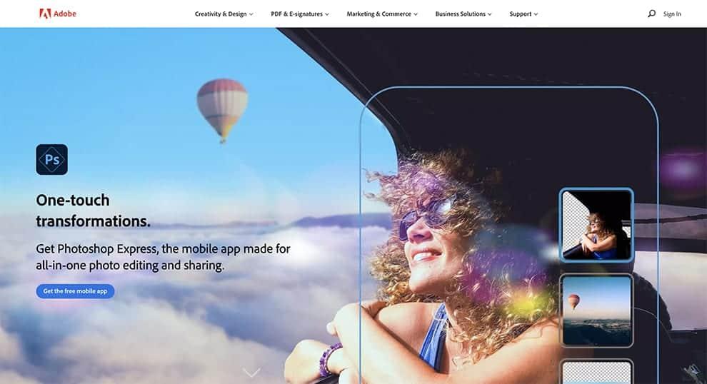 photoshop express free photo editor