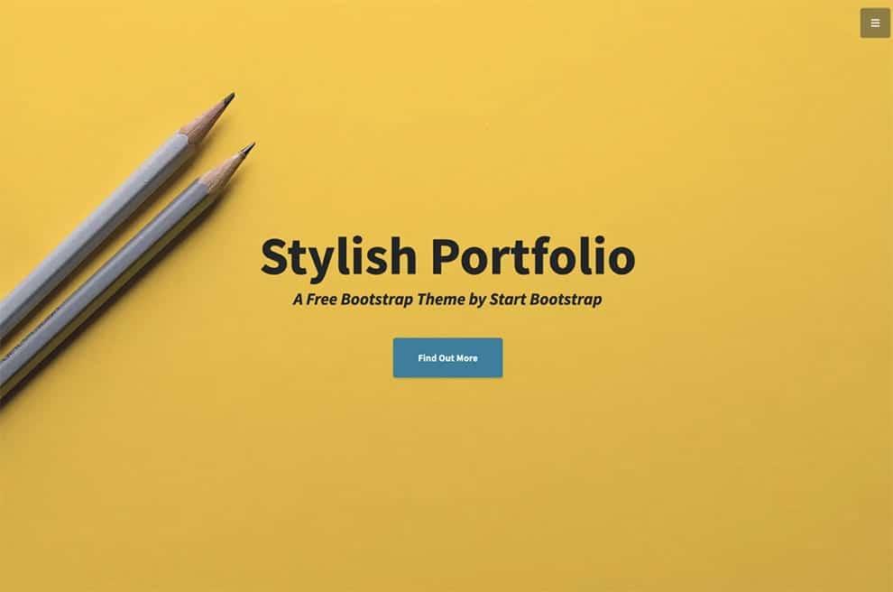 stylish portfolio free