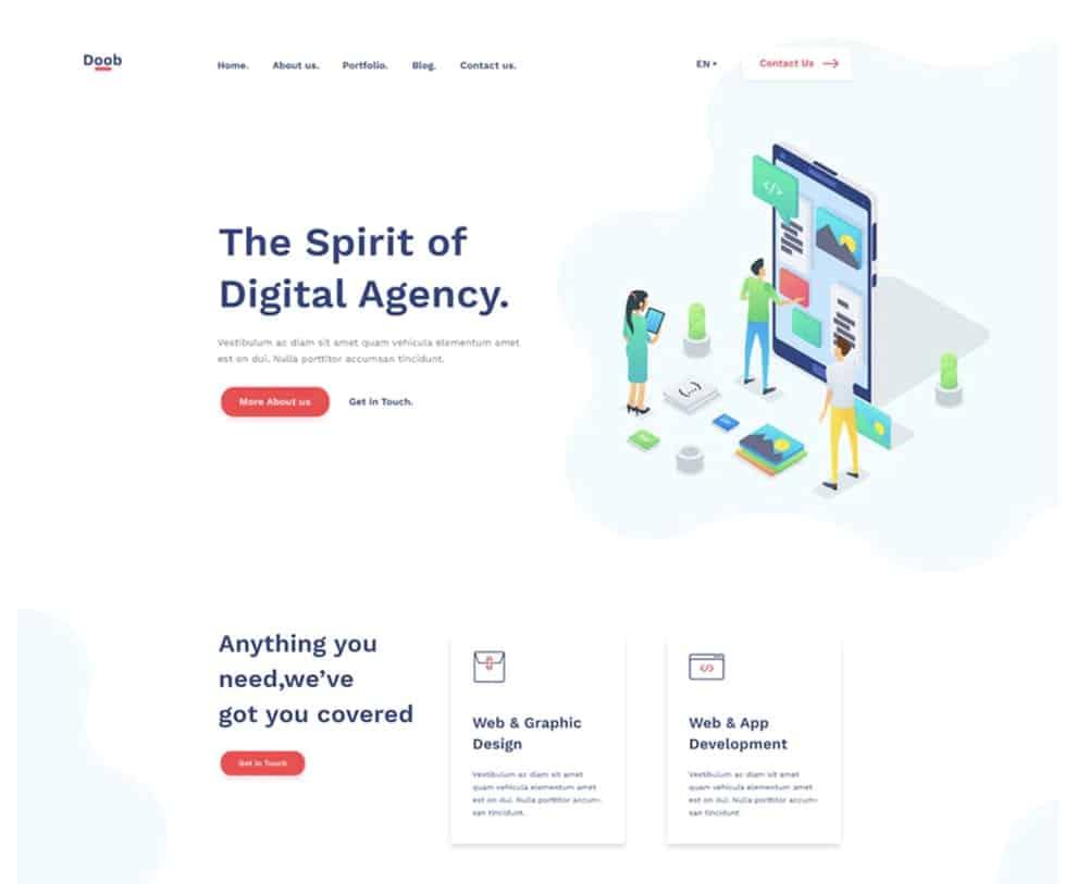 Doob - Free Agency HTML Template