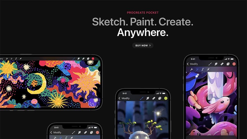 procreate pocket draw app