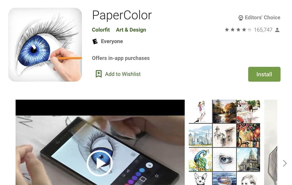 PaperColor draw app