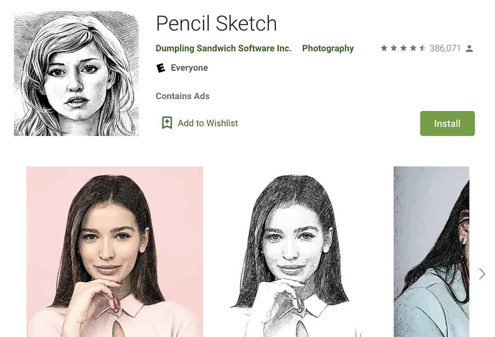 pencil sketch drawing app free