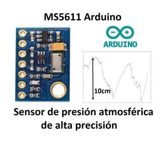 MS5611 módulo presión atmosférica. Resolución de 10 cm de altura  | Arduino