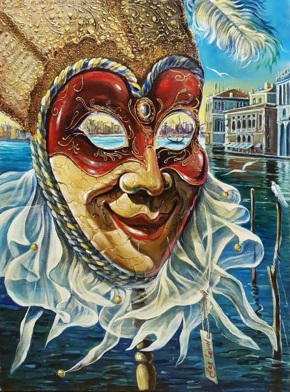 Original Oil Painting: Music Jester