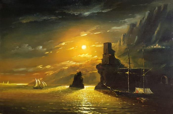 Original Oil Painting: Moon Light