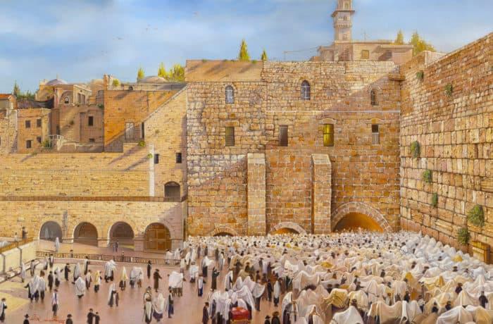 Original Oil Painting: Birkat Kohanim