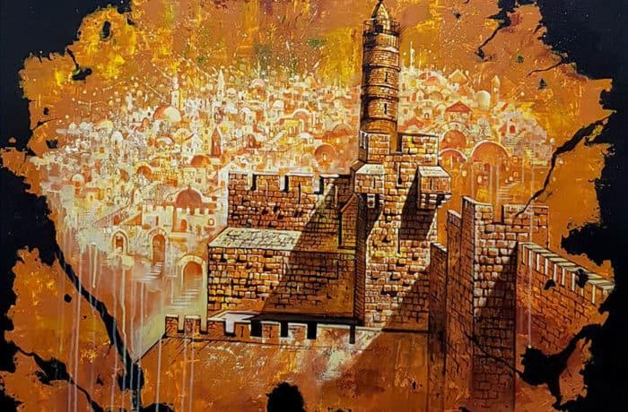 Original Oil Painting: City of David
