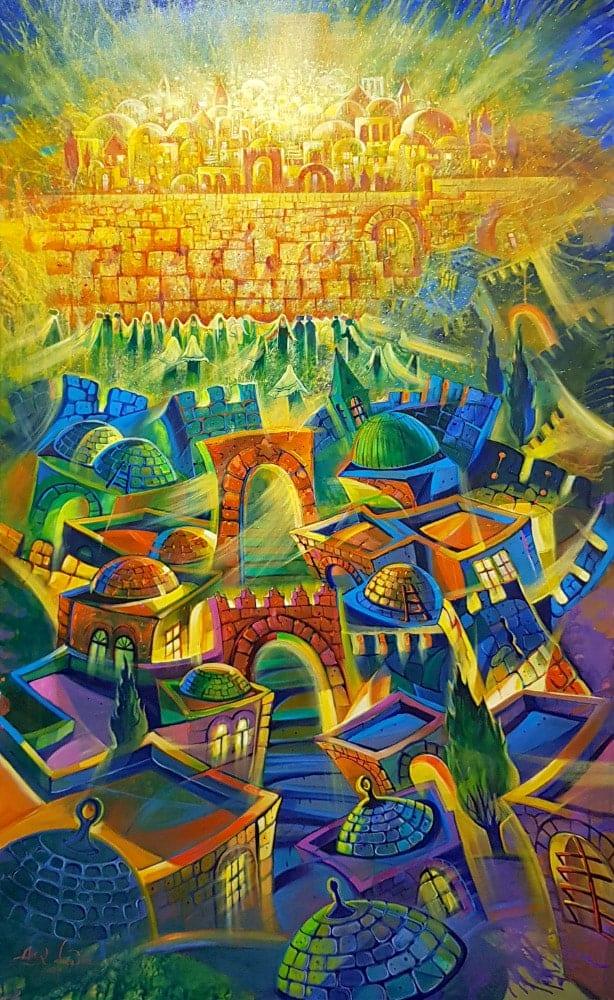 modern jerusalem painting