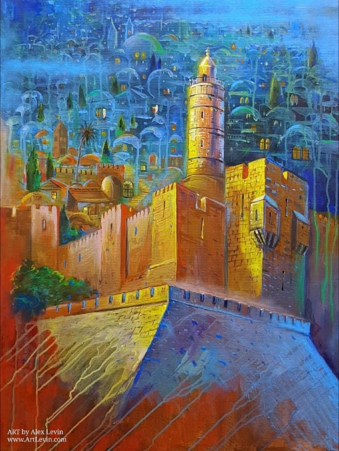 Original Oil Painting: Heavenly Jerusalem