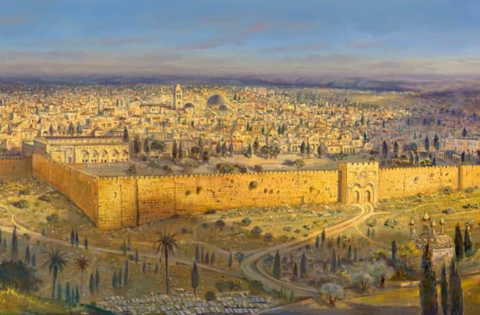 Original Oil Painting: Holy Jerusalem