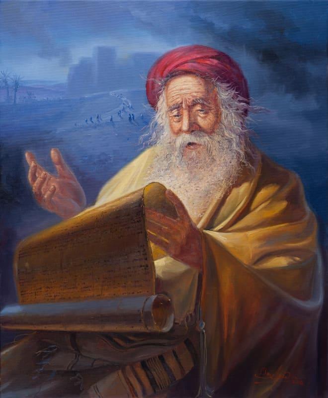 Original Oil Painting: Jeremiah the weeping prophet
