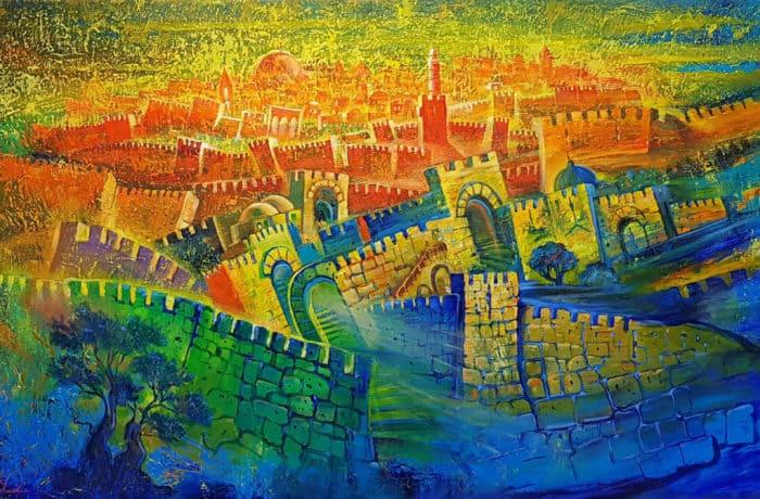 Original Oil Painting: Jerusalem – City of light and wisdom