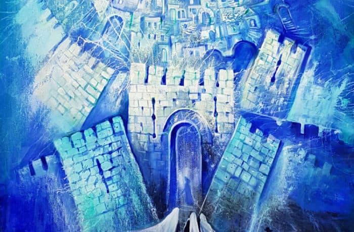 Original Oil Painting: Jerusalem Rhapsody in blue