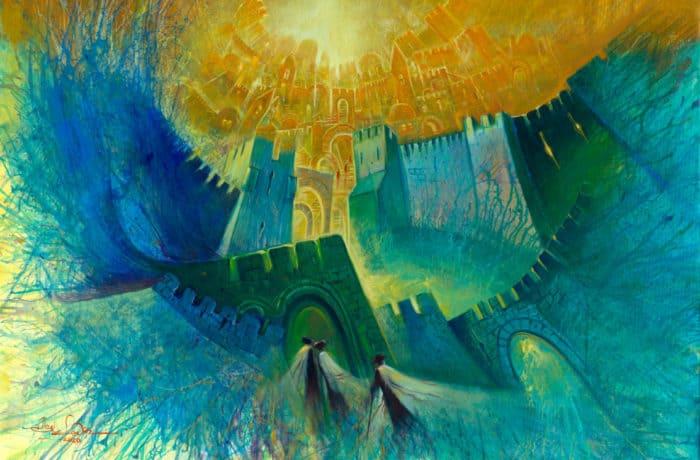 Original Oil Painting: Jerusalem Vibes