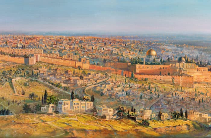 Original Oil Painting: Jerusalem a City on Seven Hills
