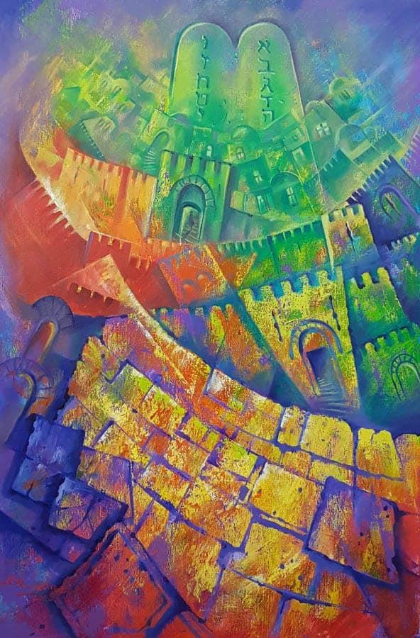 Original Oil Painting: Light of Jerusalem