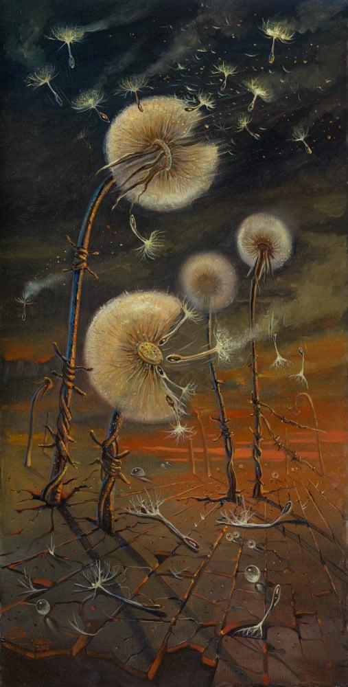 Original Oil Painting: Majdanek