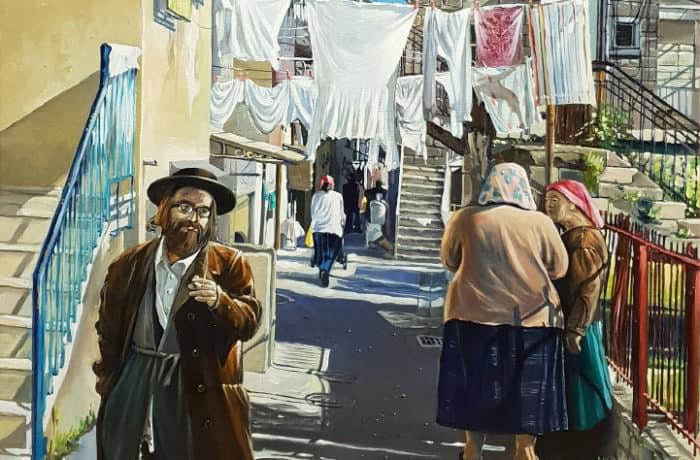Original Oil Painting: Mea Shearim