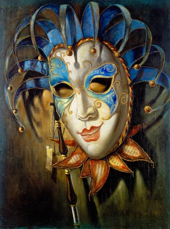Original Oil Painting: Medusa Colombina-Violin
