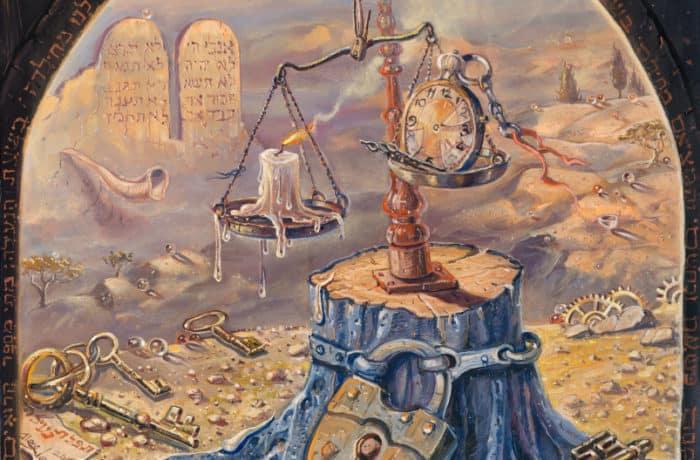 Original Oil Painting: Neilah – Closing of the gates