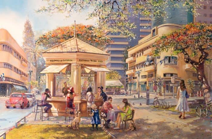 Original Oil Painting: One day in Tel Aviv