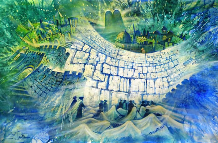 Original Oil Painting: Pathway to the Third Jerusalem Temple