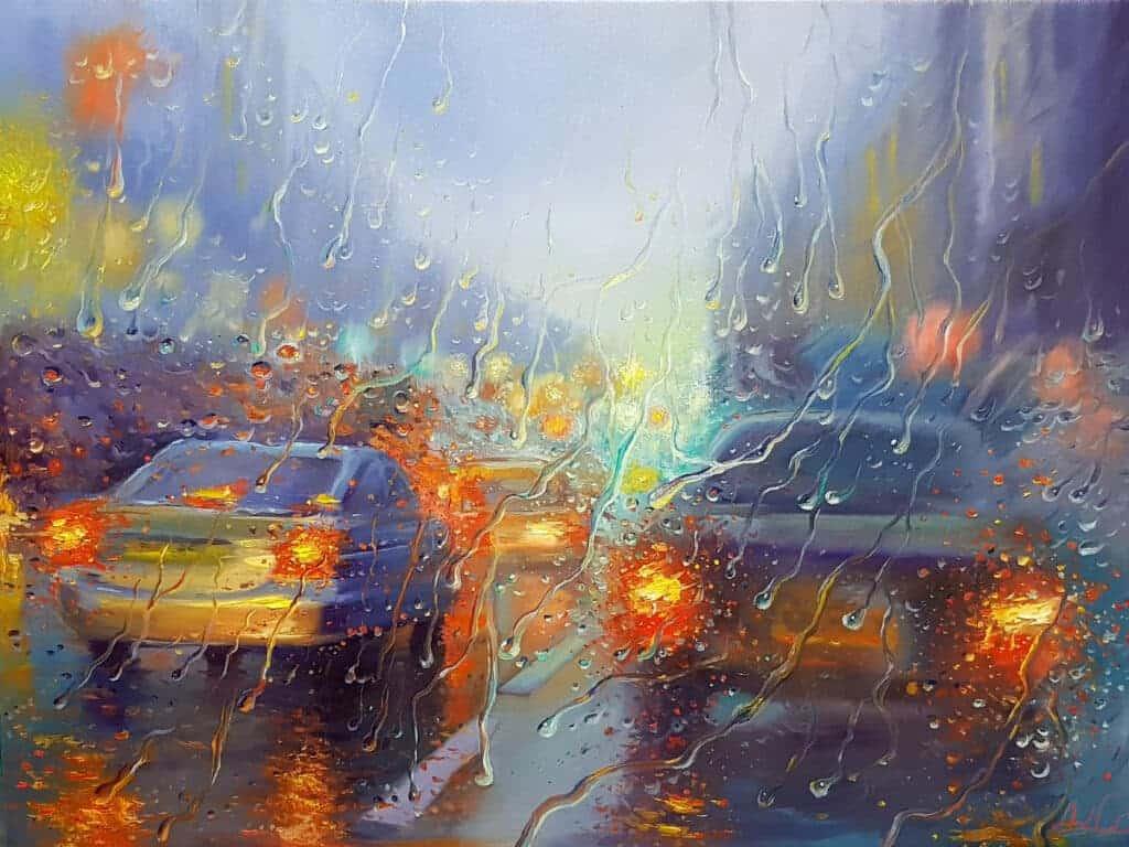 rain city painting