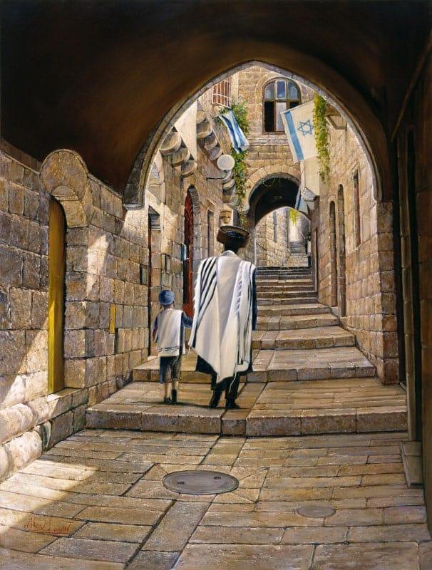 old street in jerusalem painting