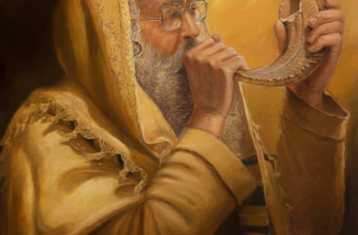 Original Oil Painting: Sounding of Shofar