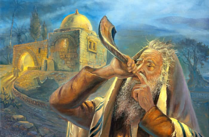 Original Oil Painting: Sounds of Shofar at Kever Rachel