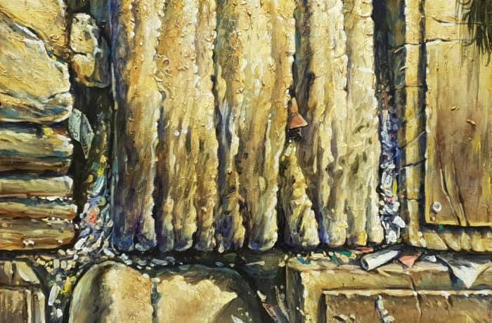 Original Oil Painting: Stones of Wailing Wall Kotel