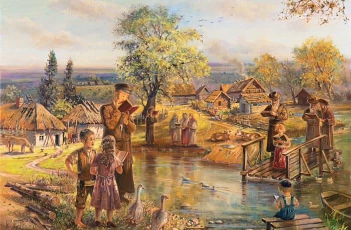 Original Oil Painting: Tashlich