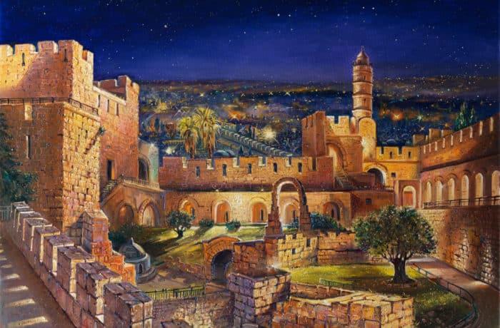 Original Oil Painting: The Garden of David