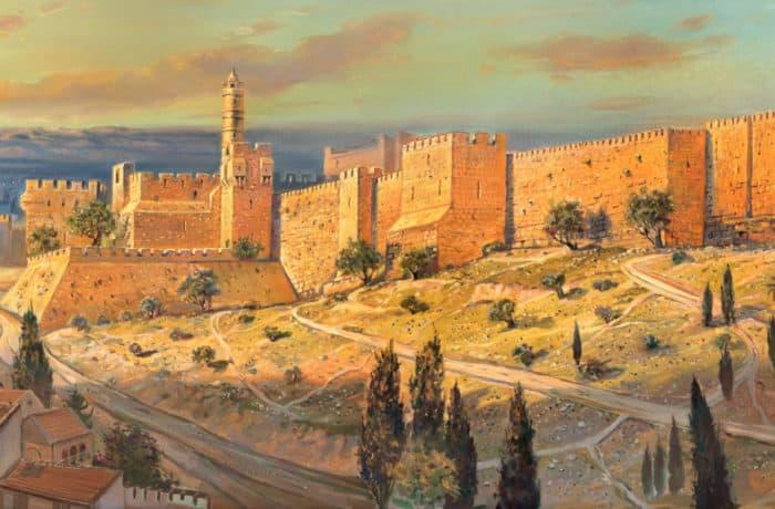 Original Oil Painting: The Walls of Jerusalem